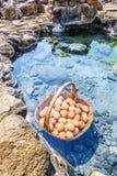 Huevos que hierven en las aguas termales, Chae Son Hot Spring en el provi de Lampang Fotografía de archivo libre de regalías