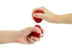 Huevos que se quiebran en Pascua Imagen de archivo libre de regalías