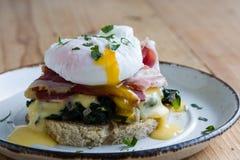Huevos rústicos Benedicto Fotos de archivo