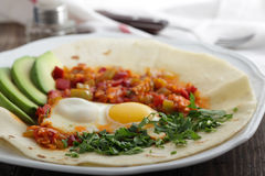 huevos rancheros Fotografia Stock