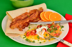 Huevos Rancheros with Bacon Royalty Free Stock Image