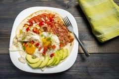Huevos-rancheros - Eier in der Ranch lizenzfreie stockbilder