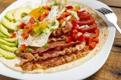 Huevos-rancheros - Eier in der Ranch lizenzfreie stockfotografie
