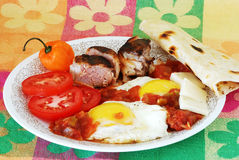 Huevos Rancheros Mexican Breakfast Stock Photo