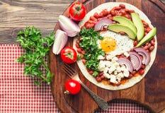 Huevos Rancheros śniadania pizza Obrazy Royalty Free