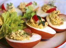 Huevos rellenos Foto de archivo libre de regalías