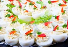 Huevos rellenos Fotografía de archivo