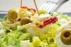 Huevos rellenos del español Fotos de archivo