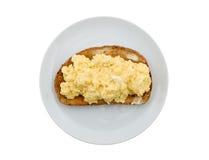 Huevos revueltos Fotos de archivo libres de regalías