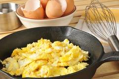 Huevos revueltos Imagenes de archivo
