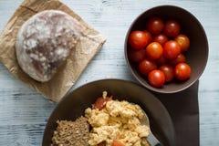 Huevos revueltos Foto de archivo libre de regalías