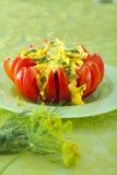 Huevos revueltos en tomate Fotos de archivo libres de regalías