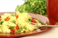 Huevos revueltos mullidos Foto de archivo