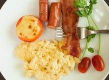 Huevos revueltos para el desayuno Fotografía de archivo libre de regalías
