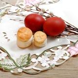 Huevos rusos del pan y del color de la religión de Pascua Fotos de archivo