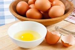 Huevos sin procesar Foto de archivo