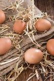 Huevos sin procesar Imagenes de archivo