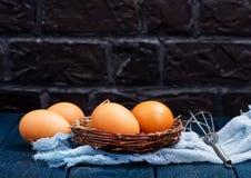 Huevos sin procesar del pollo Fotos de archivo