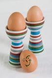 Huevos sonrientes Imagen de archivo libre de regalías
