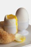 Huevos suaves-boled Fotos de archivo libres de regalías