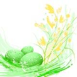Huevos verdes de Pascua Foto de archivo libre de regalías