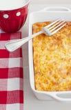 Huevos y cazuela cocidos al horno del queso fotos de archivo libres de regalías