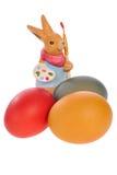 huevos y conejo Imágenes de archivo libres de regalías