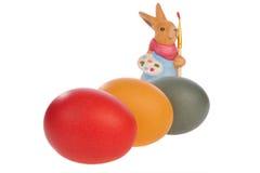 Huevos y conejos de Pascua Imagenes de archivo