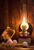 Huevos y lámpara Imagen de archivo libre de regalías