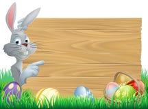 Huevos y muestra del conejito de pascua