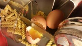 Huevos y pastas Imagen de archivo libre de regalías