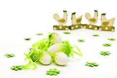 Huevos y pollo de Pascua foto de archivo libre de regalías