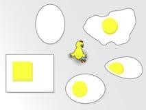 Huevos y pollo gritador foto de archivo