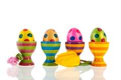 Huevos y tulipanes de Pascua Foto de archivo libre de regalías