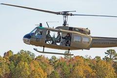 Huey直升机 免版税图库摄影