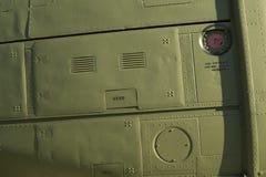 Huey砍刀侧面板的细节 免版税库存照片