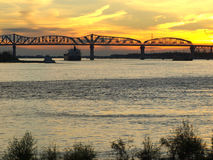 Huey Long Bridge--New Orleans Stock Photo