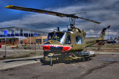 Huey restored helicopter Stock Photography