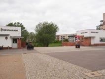 Hufeisen Siedlung i Berlin Arkivfoto