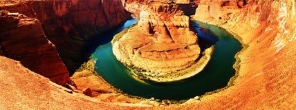 Hufeisenbiegung auf dem Colorado nahe Seite, Arizona, USA Lizenzfreie Stockbilder