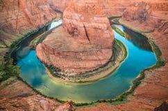Hufeisenschlaufe in der Seite, Arizona Lizenzfreie Stockbilder