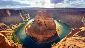 Hufeisenschlaufe in der Seite, Arizona Lizenzfreie Stockfotografie