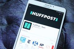 HuffPost κινητό app Στοκ εικόνα με δικαίωμα ελεύθερης χρήσης