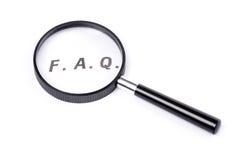 Häufig gestellte Fragen Lizenzfreies Stockfoto