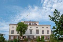 Hufvudsta gård in Solna municipality, Stockholm, Sweden. Hufvudsta gård, a 19th century Empire style mansion in Solna municipality, Stockholm, Sweden royalty free stock image