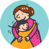 Hug royalty free stock photo