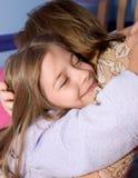 hug время ложиться спать Стоковое Фото
