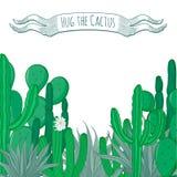 Hug the cactus card Stock Image