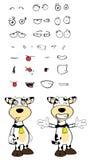 Hug Cow cartoon expressions set Royalty Free Stock Photos