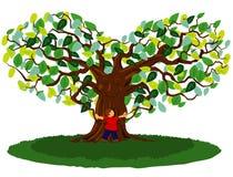 Hug da árvore ilustração do vetor